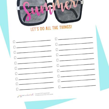 Hello Summer, Hello Summer Bucket List