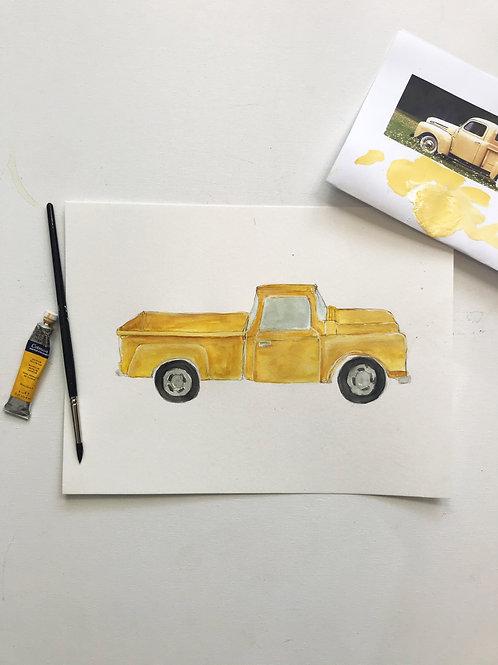 Yellow Vintage Truck