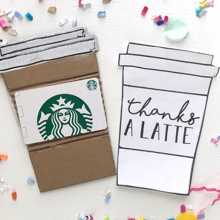 Coffee Gift Card Printable
