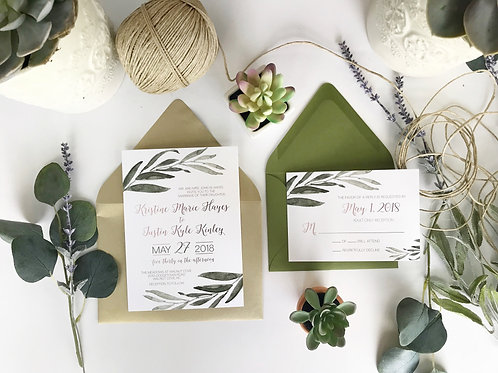 Greenery Wedding Invitation