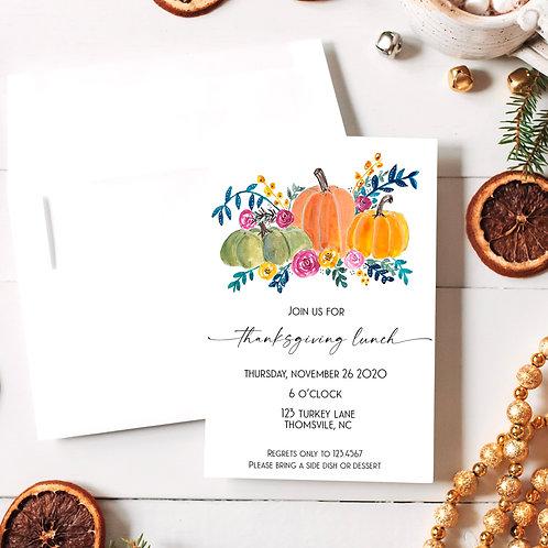 Thanksgiving Dinner or Lunch Invite