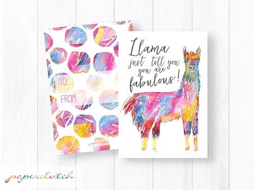 Llama Valentines