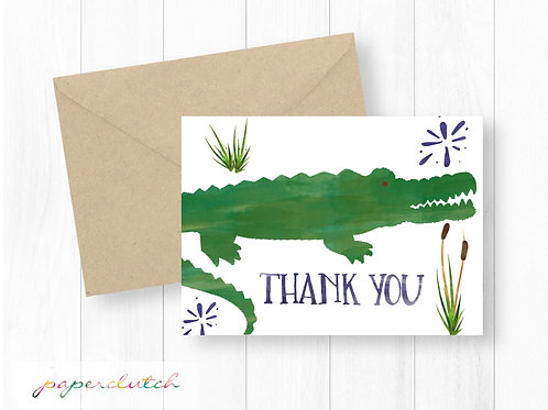 Matching Alligator Thank You Card