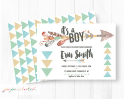Tribal Baby Shower Invitation