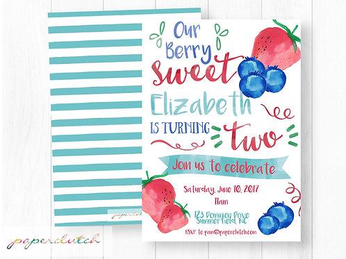 Berry Sweet Birthday Invite