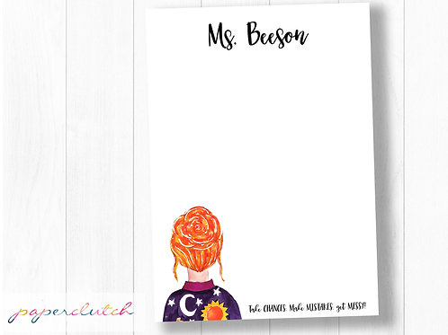 Custom Teacher Notepad Ms Frizzle