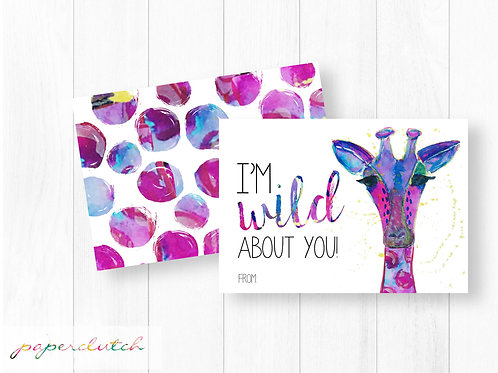 Wild About You Valentines Instant Download