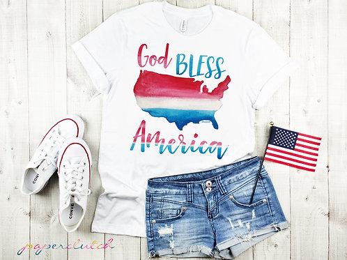 Kids Patriotic Short Sleeved Tee