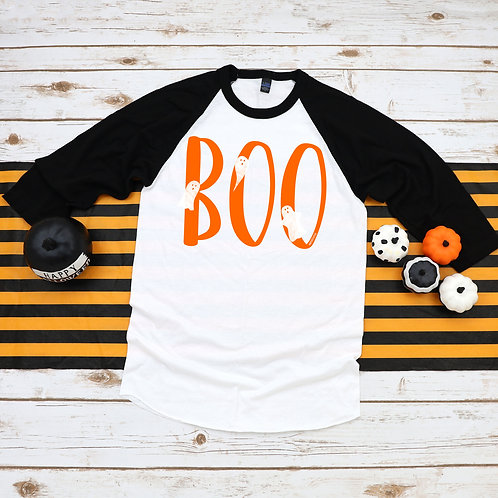 Halloween raglan shirt