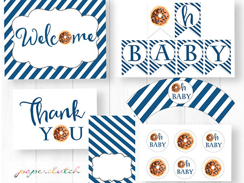 Donut Baby Shower Party Pack Instant Download