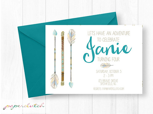 Boho Birthday Invitation