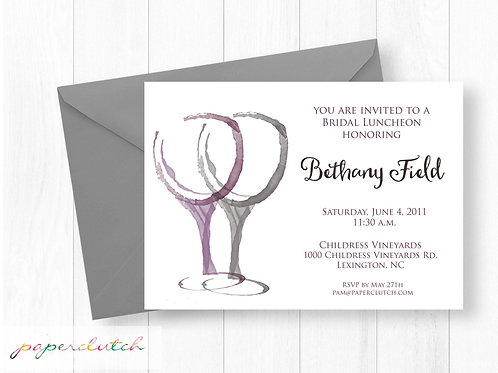 Vineyard Bridal Shower Luncheon Invitation