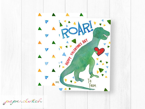 T Rex Valentine Instant Download