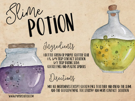 Slime Potion - Free Printable Recipe