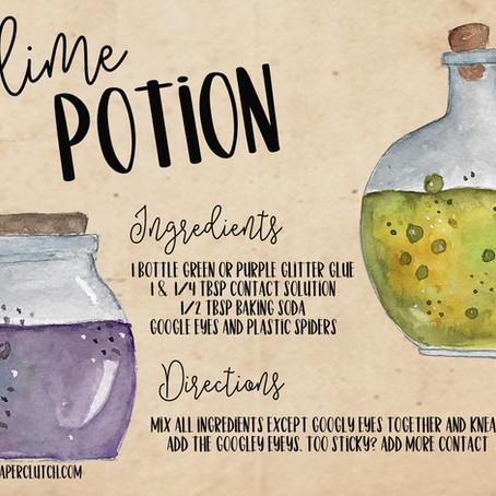 Slime Potion - Free Printable Recipe