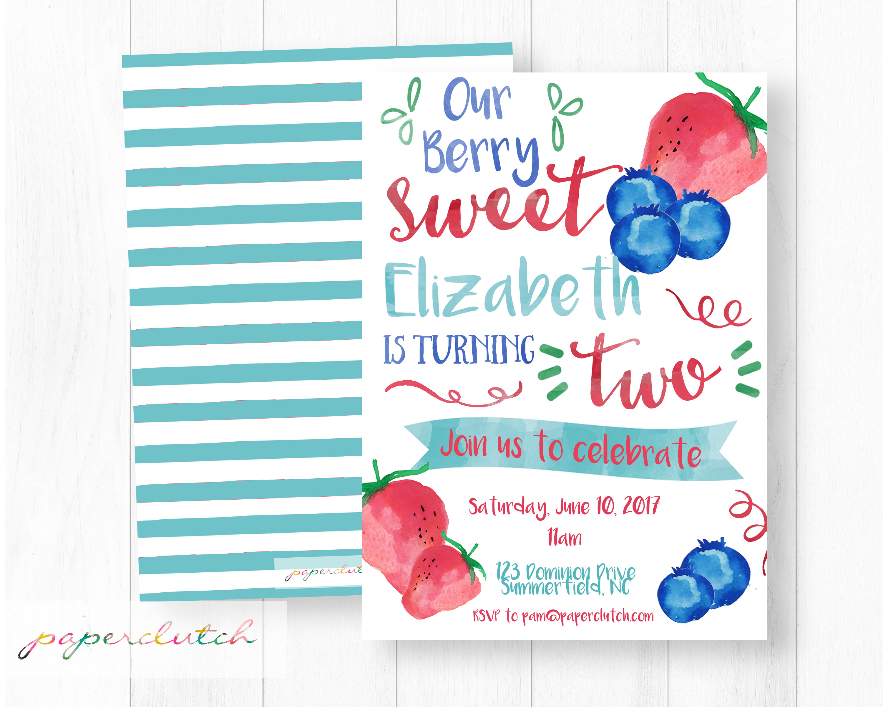Berry Birthday Invitaiton
