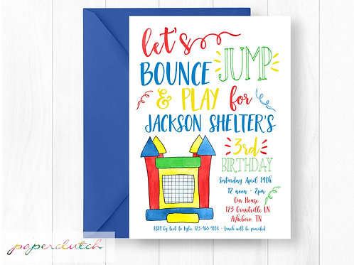 Bounce House Invite