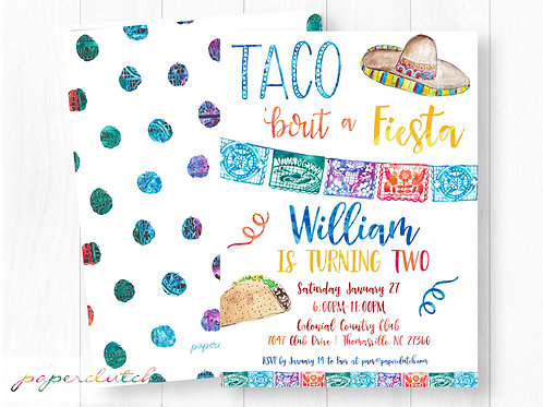 Taco Twosday Birthday Invitation
