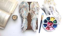 Angel Wings on Barn Wood