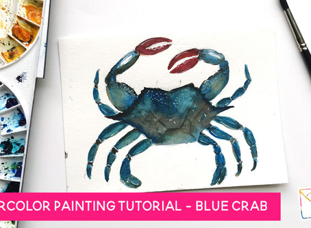 Blue Watercolor Painting Tutorial