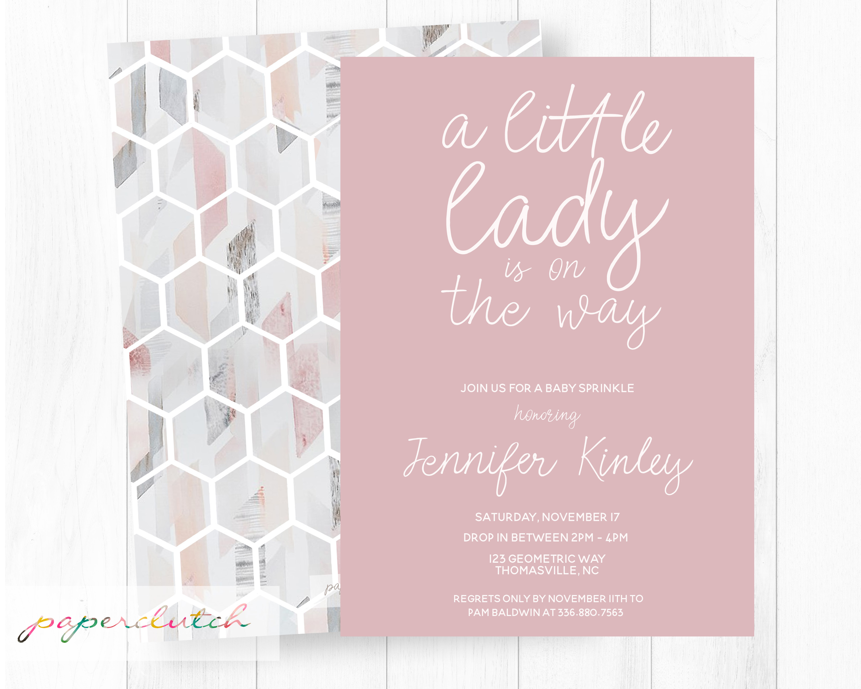 A Little Lady baby Shower Invite