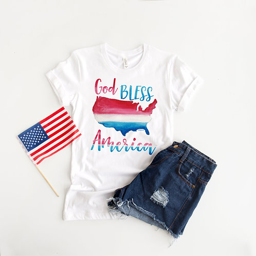 Patriotic Women's Short Sleeved Tee