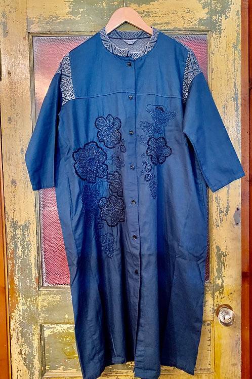 Fuga Fuga Woven Navy Dress