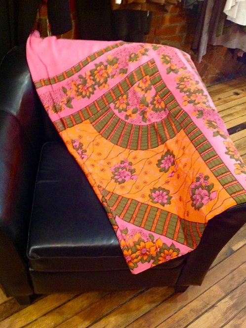 Auntie Oti Printed Throw Pink