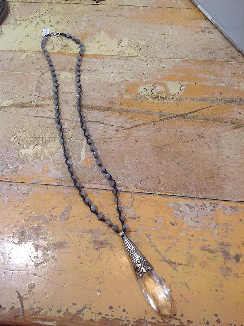Crystal and Labradorite Necklace
