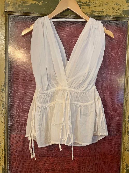 Ottod'Ame White Drawstring Top