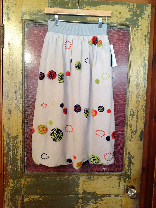 M. & KYOKO Woven Skirt in L Gray