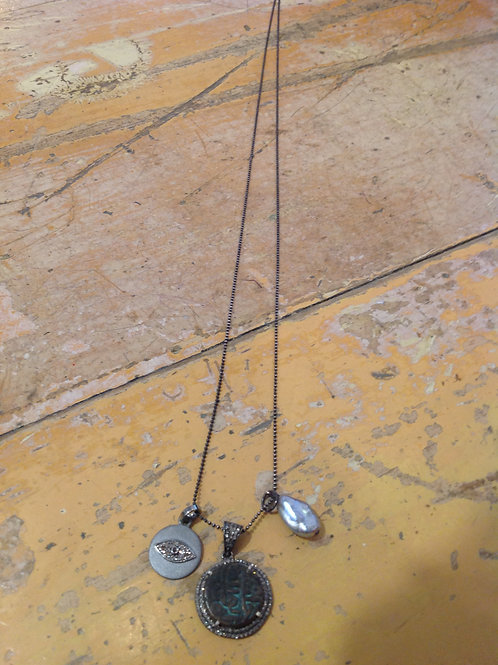 Feathered Soul Heiroglyphs Necklace