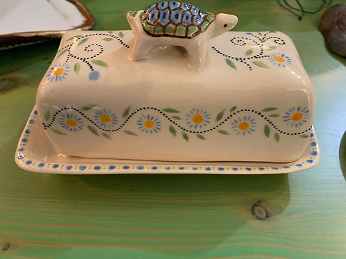 Christine Levy Turtle Butter Dish