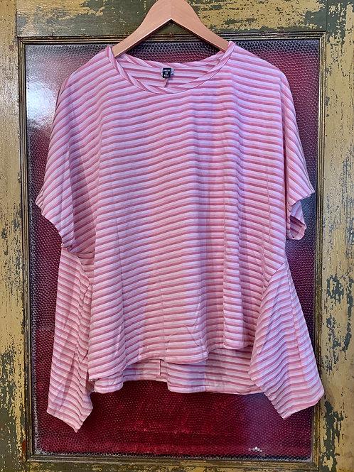Dress To Kill Pink Stripe Tee Shirt