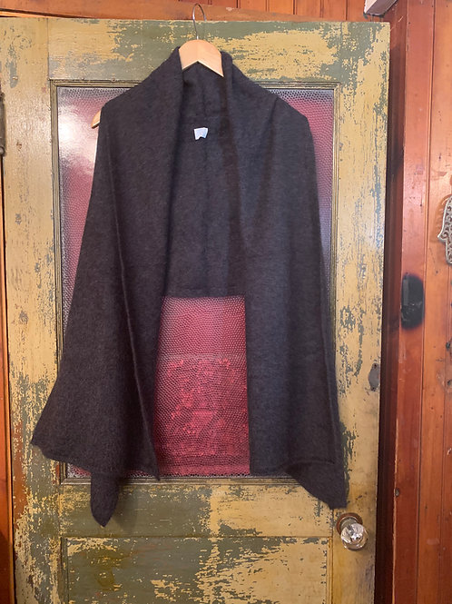 CT Plage Charcoal Shawl Sweater