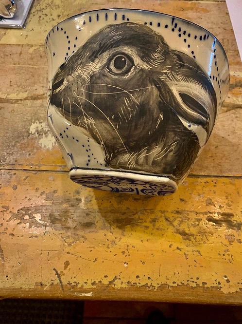 Hannah Niswonger Extra Large Bowl Rabbit