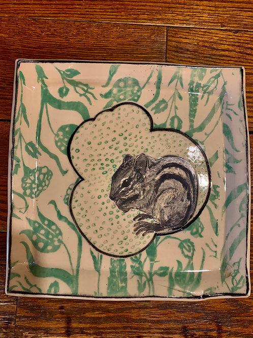 Hannah Niswonger Small Chipmunk Plate