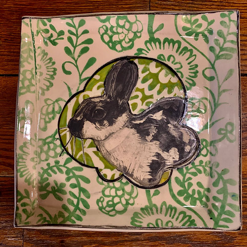 Hannah Niswonger Small Rabbit Plate