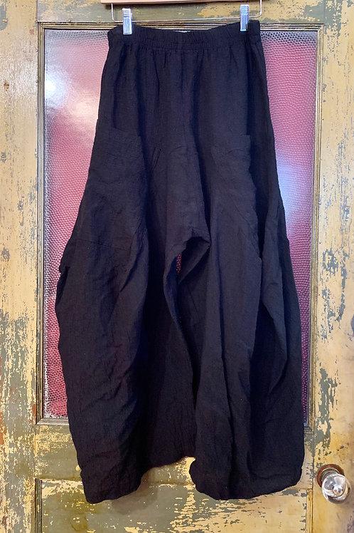Dress To Kill Black Gauze Harem Pant