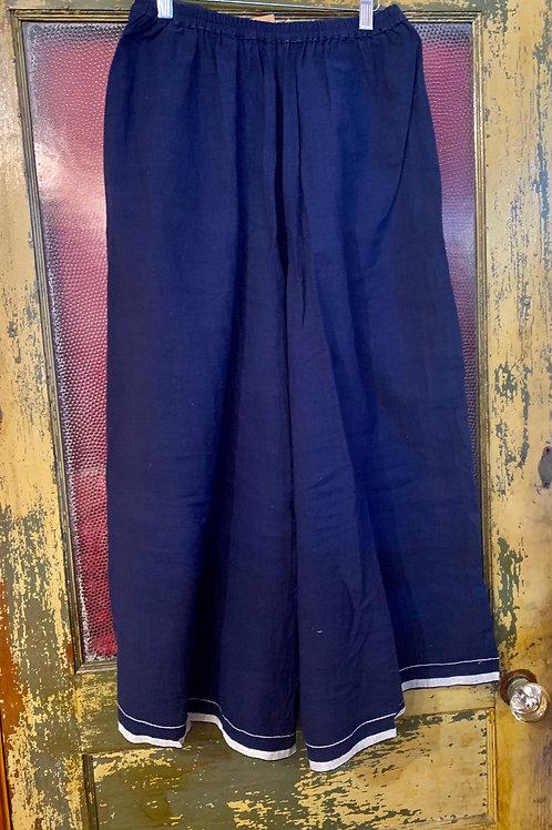 Injiri Wide Leg Trouser - Indigo