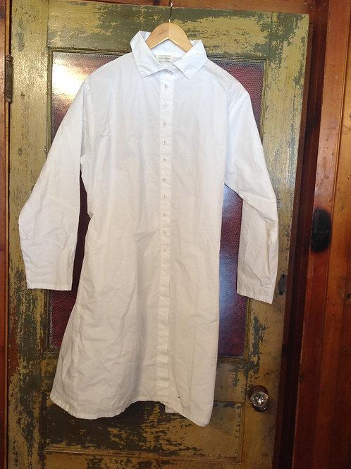Krista Larson Long Weekender Shirt in Cotton Broadcloth