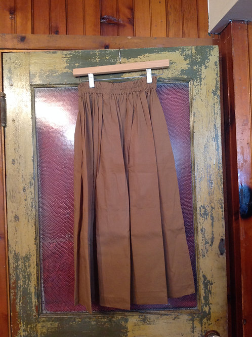 Laurence Bras Cotton Skirt in Cigar