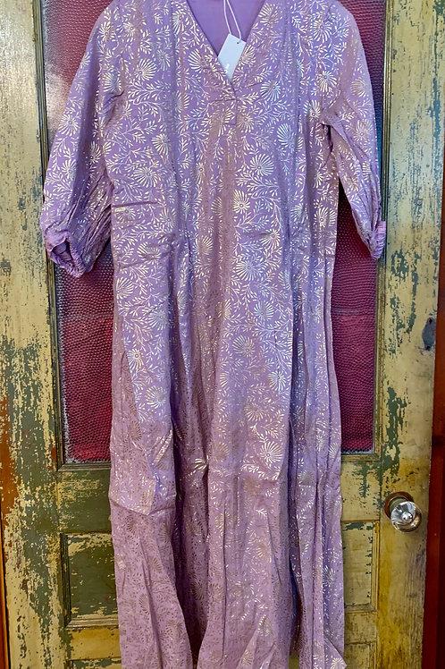 Ne Quittez Pas Lilac Gold Flower Dress
