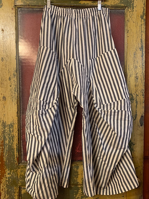 Dress To Kill Grey and White Stripe Pant #6