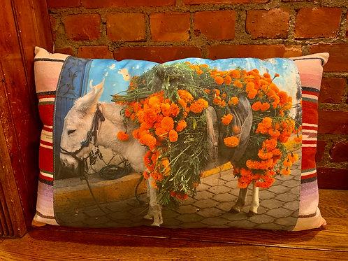 Totem Salvaged Pillows w/Donkey
