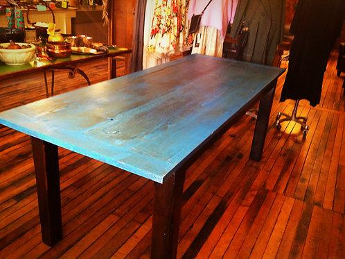 """Black & Blue"" Rustic Farm Table"