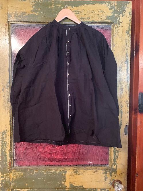 Injiri Black Button Down Top