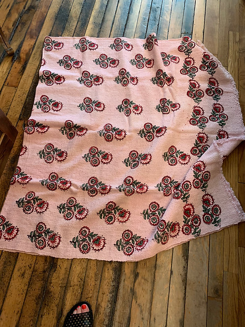 Woven Cotton Roses Blanket