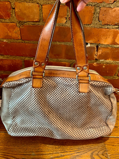 Viva La Difference Silver Grey Dots Bag