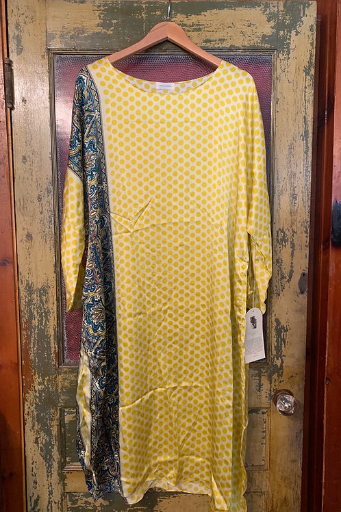 Krista Larson Dotted Paisley Silk Dress